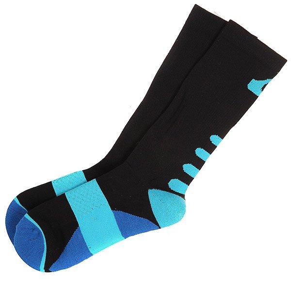 Носки средние Quiksilver Crew Black<br><br>Цвет: черный,голубой<br>Тип: Носки средние<br>Возраст: Взрослый<br>Пол: Мужской