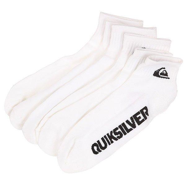 Носки низкие Quiksilver Bold Logo 3pk White<br><br>Цвет: белый<br>Тип: Носки низкие<br>Возраст: Взрослый<br>Пол: Мужской