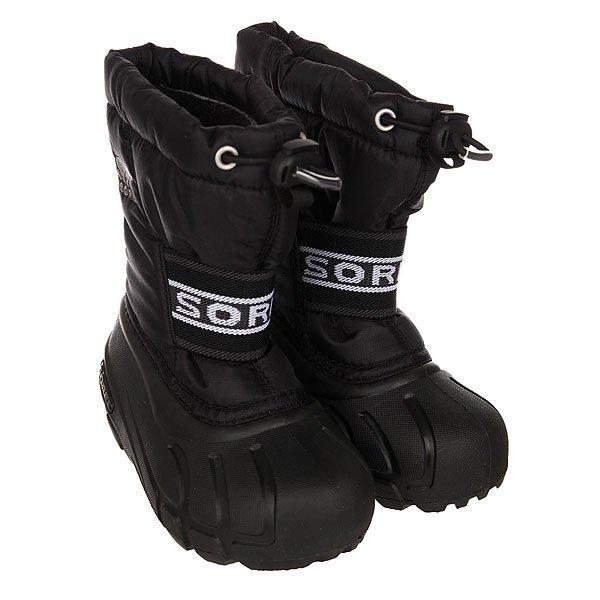 Купить со скидкой Сапоги зимние детские Sorel Childrens Cub Black