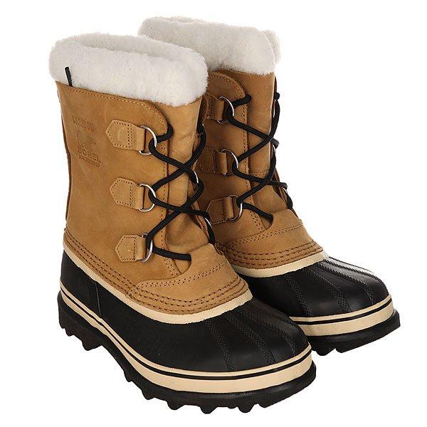 Сапоги зимние детские Sorel Youth Caribou Buff<br><br>Цвет: черный,бежевый<br>Тип: Сапоги зимние<br>Возраст: Детский
