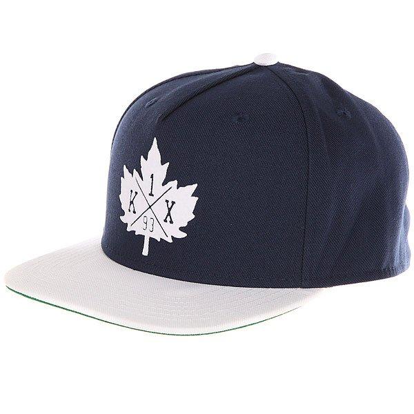 Бейсболка с прямым козырьком K1X Park Authority Snapback Cap Navy<br><br>Цвет: синий,белый<br>Тип: Бейсболка с прямым козырьком<br>Возраст: Взрослый<br>Пол: Мужской