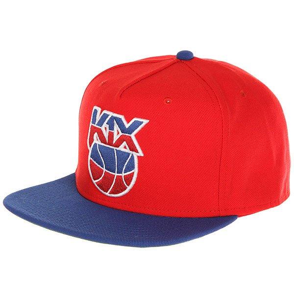 Бейсболка с прямым козырьком K1X Petro Snapback Red/Blue<br><br>Цвет: синий,красный<br>Тип: Бейсболка с прямым козырьком<br>Возраст: Взрослый