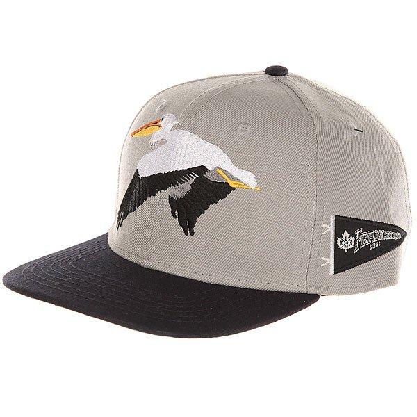 Бейсболка с прямым козырьком K1X Pelican Strapback Cap Light Grey/Blue<br><br>Цвет: серый,синий<br>Тип: Бейсболка с прямым козырьком<br>Возраст: Взрослый<br>Пол: Мужской