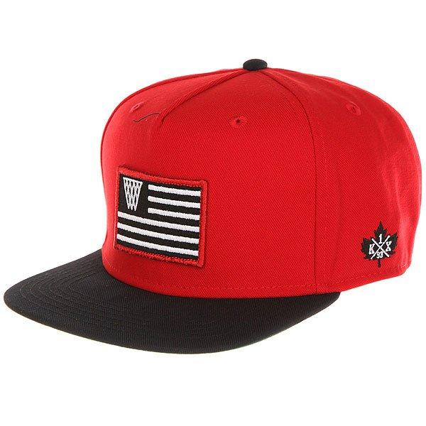 Бейсболка с прямым козырьком K1X Noh Flag Snapback Cap 6600<br><br>Цвет: красный,черный<br>Тип: Бейсболка с прямым козырьком<br>Возраст: Взрослый