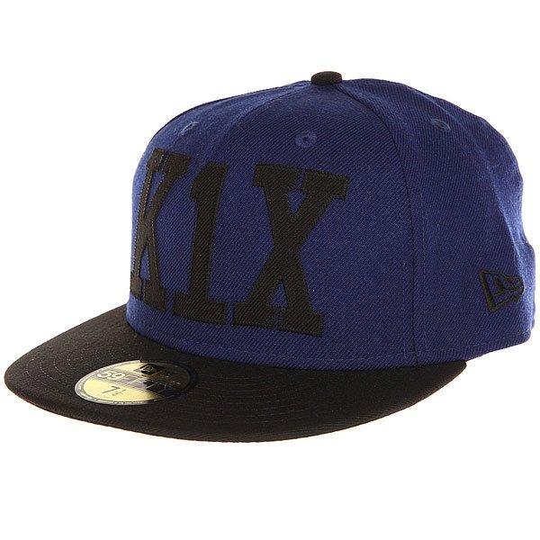 Бейсболка с прямым козырьком K1X Simple Type 59/50 Ultrablue/Black<br><br>Цвет: синий,черный<br>Тип: Бейсболка с прямым козырьком<br>Возраст: Взрослый<br>Пол: Мужской