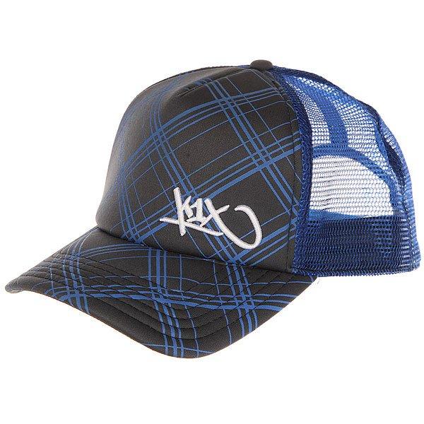 Бейсболка с сеткой K1X Check It Out Trucker Cap Stealth Grey/Cyan<br><br>Цвет: синий,серый<br>Тип: Бейсболка с сеткой<br>Возраст: Взрослый<br>Пол: Мужской