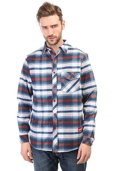 Рубашка в клетку Skills Check Shirt White/Blue<br><br>Цвет: белый,синий<br>Тип: Рубашка в клетку<br>Возраст: Взрослый<br>Пол: Мужской