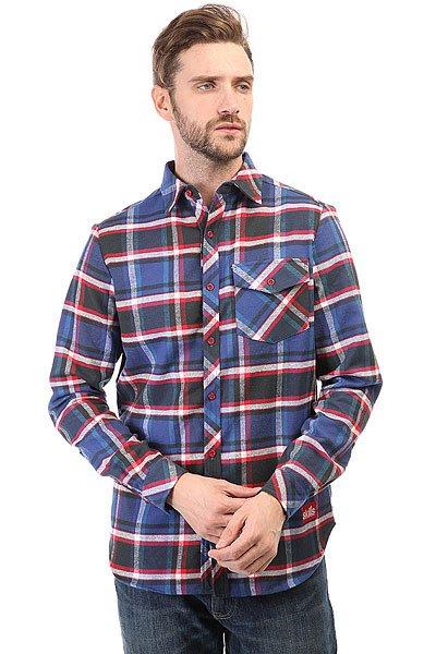 Рубашка в клетку Skills Check Shirt Blue/Black/Red<br><br>Цвет: синий,черный,красный<br>Тип: Рубашка в клетку<br>Возраст: Взрослый<br>Пол: Мужской