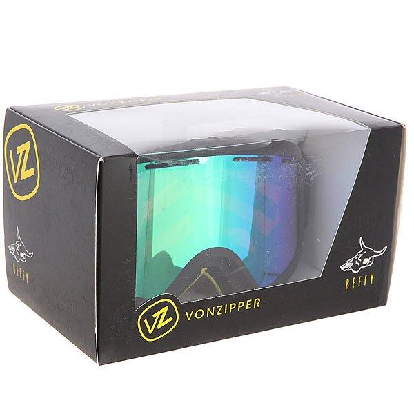 Маска для сноуборда Von Zipper Beefy Black Gloss/Satin/Quasar Chrome