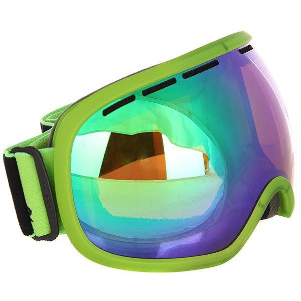 Маска для сноуборда Von Zipper Fishbowl Mono Black Lime/Quasar ChromeБольшая маска с широкими вентилируемыми линзами и отличным периферийным обзором для повышенной остроты зрения! Удобная маска для любых условий.Технические характеристики: Эргономичная оправа из термополиуретана.100% защита от ультрафиолетовых лучей.Двойные сферические линзы из поликарбоната.Максимальное периферийное зрение.Вентиляция для максимального воздушного потока.Покрытие против запотевания Anti-Fog.Тройной слой пены и слой флиса.Двойной регулируемый ремень.Маска совместима со шлемом.Чехол из микрофибры.<br><br>Цвет: зеленый<br>Тип: Маска для сноуборда<br>Возраст: Взрослый<br>Пол: Мужской