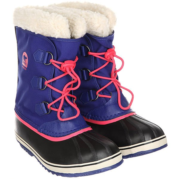 Сапоги зимние детские Sorel Yoot Pac Nylon Grape Juice An Afterglow