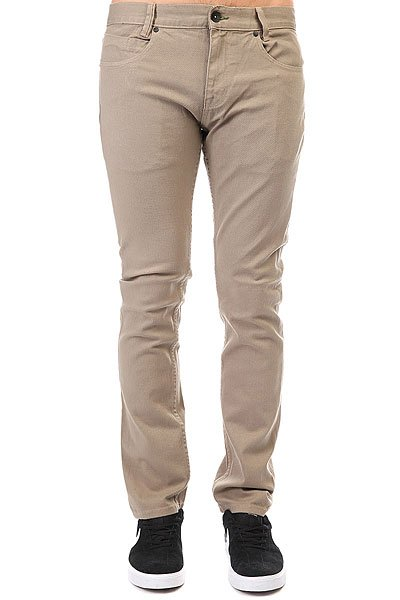 Джинсы узкие Billabong Slim Outsider Color Khaki джинсы billabong джинсы slim outsider denim fw17