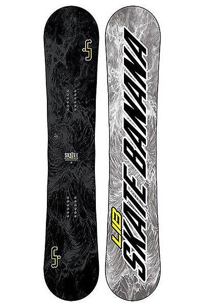 Сноуборд Lib Sk8 Banana 162w Stealth AstСозданный для побед сноуборд Skate Banana BTX, на котором легко кататься и получить максимальную производительность. Летит, как стрела, и плавно плывет по снегу!Технические характеристики: Форма  True Twin.Прогиб BTX - рокер между креплениями, с плоским и мягким кэмбером в контактной зоне для маневренности и отличной плавучести в условиях большого снега.Технология MAGNE-TRACTION® - сноуборд отлично ведет себя на жестком снегу и на льду.Сердечник из разных сортов дерева ASPEN/COLUMBIAN GOLD.Комбинированное стекловолокно TRI-AX/BI-AX.Верхний слой Eco Sub PBT.Скользяк SINTERED.Боковины, нос и хвост из высокомолекулярного материала UHMW.Внутренние боковины из березы (Birch Internal Sidewalls).<br><br>Цвет: черный,серый<br>Тип: Сноуборд<br>Возраст: Взрослый<br>Пол: Мужской