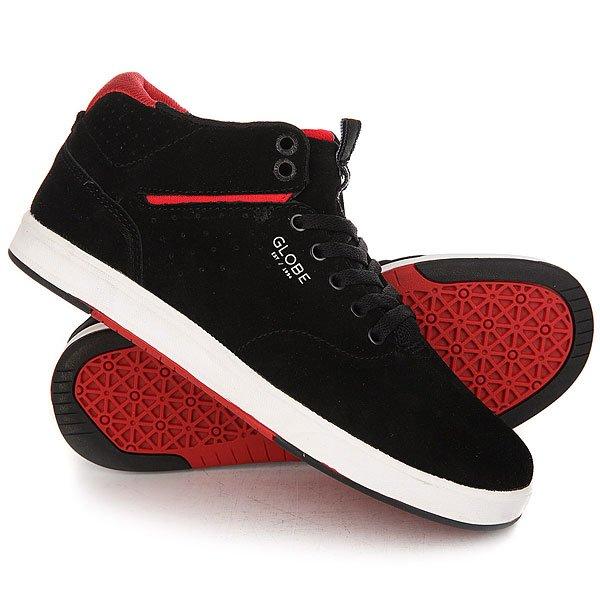 Кеды кроссовки высокие Globe Motley Solace Black/Red кеды кроссовки globe focus graphic black leather cross