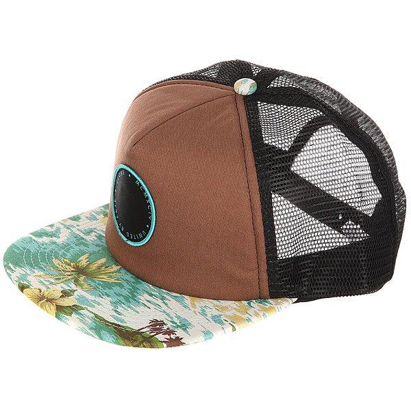 Бейсболка с сеткой Globe Floreana Cap Brow/Hawaiian<br><br>Цвет: мультиколор,черный<br>Тип: Бейсболка с сеткой<br>Возраст: Взрослый