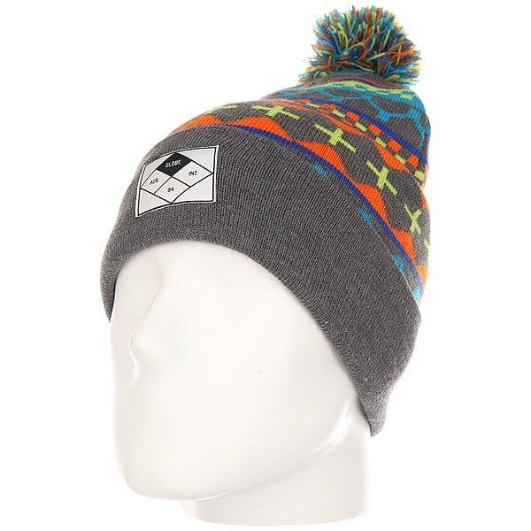 Шапка Globe Inca Beanie Multi Coloured<br><br>Цвет: серый,мультиколор<br>Тип: Шапка<br>Возраст: Взрослый<br>Пол: Мужской