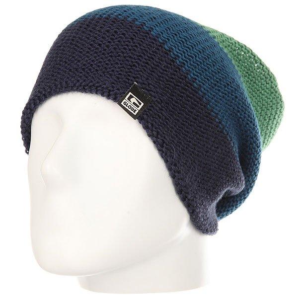 Шапка носок Globe Howley Beanie Midnight<br><br>Цвет: зеленый,синий<br>Тип: Шапка носок<br>Возраст: Взрослый<br>Пол: Мужской