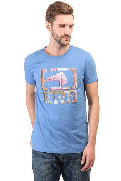 Футболка Globe Reverse Cobalt<br><br>Цвет: белый,синий<br>Тип: Футболка<br>Возраст: Взрослый<br>Пол: Мужской