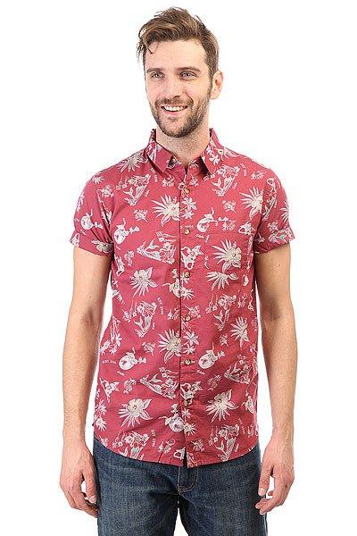 Рубашка Globe Pina Colada Shirt Brick Red<br><br>Цвет: бордовый<br>Тип: Рубашка<br>Возраст: Взрослый<br>Пол: Мужской