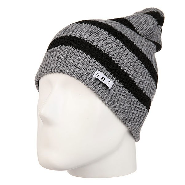 Шапка носок Neff Daily Stripe Beanie Grey/Black шапка носок armour stripe beanie brown white