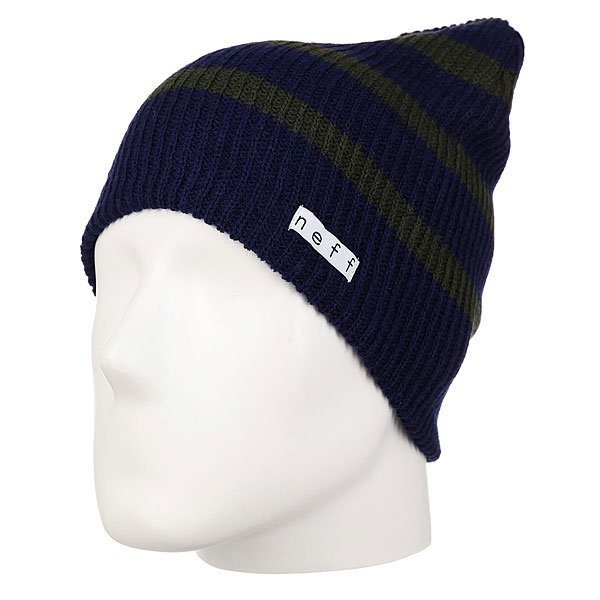 Шапка носок Neff Daily Stripe Beanie Green/Blue цена