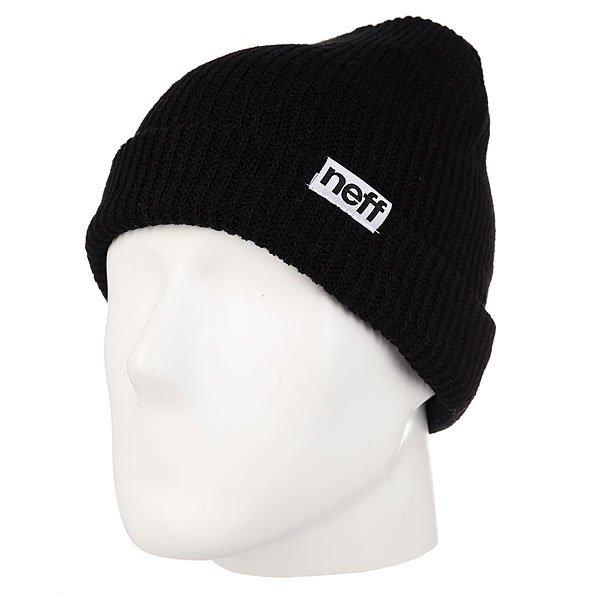Шапка Neff Fold Beanie Black<br><br>Цвет: черный<br>Тип: Шапка<br>Возраст: Взрослый<br>Пол: Мужской