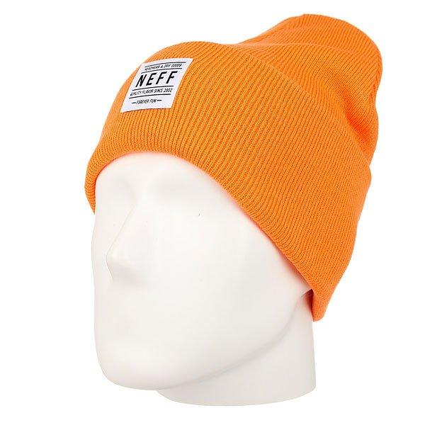 Шапка Neff Lawrence Beanie Orange<br><br>Цвет: оранжевый<br>Тип: Шапка<br>Возраст: Взрослый<br>Пол: Мужской