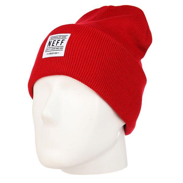 Шапка Neff Lawrence Beanie Red<br><br>Цвет: красный<br>Тип: Шапка<br>Возраст: Взрослый<br>Пол: Мужской