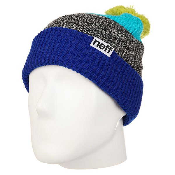 Шапка Neff Snappy Beanie Royal/Heather/Teal шапка neff fold beanie teal