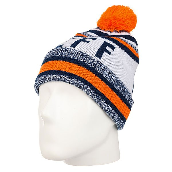 Шапка Neff Champion Beanie Navy/Orange