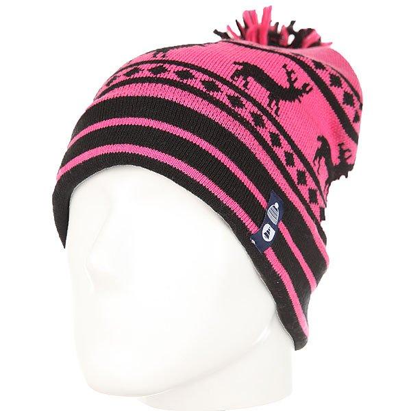 Шапка женская Picture Organic Deer Pink<br><br>Цвет: розовый,черный<br>Тип: Шапка<br>Возраст: Взрослый<br>Пол: Женский