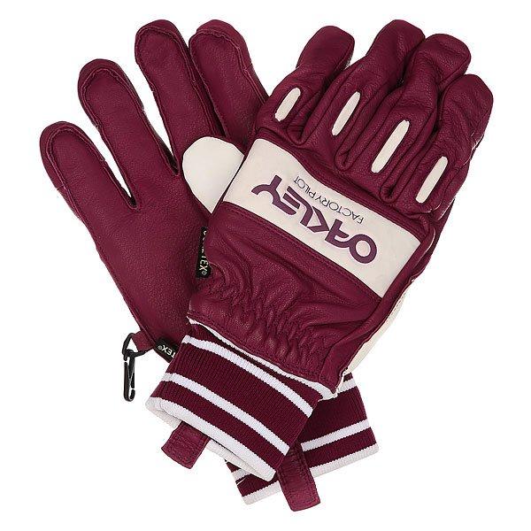 Перчатки сноубордические Oakley Factory Winter Glove Magenta PurpleКожаные перчатки с водонепроницаемой мембраной Hydrogauge™ и утеплителем Thinsulate® надежно защитят руки от непогоды в горах.Технические характеристики: Кожа с нейлоновыми вставками.Водонепроницаемая мембрана Hydrogauge™.Утеплитель Thinsulate®.Вставка для протирки носа.Съемный лиш.<br><br>Цвет: бордовый,белый<br>Тип: Перчатки сноубордические<br>Возраст: Взрослый<br>Пол: Мужской