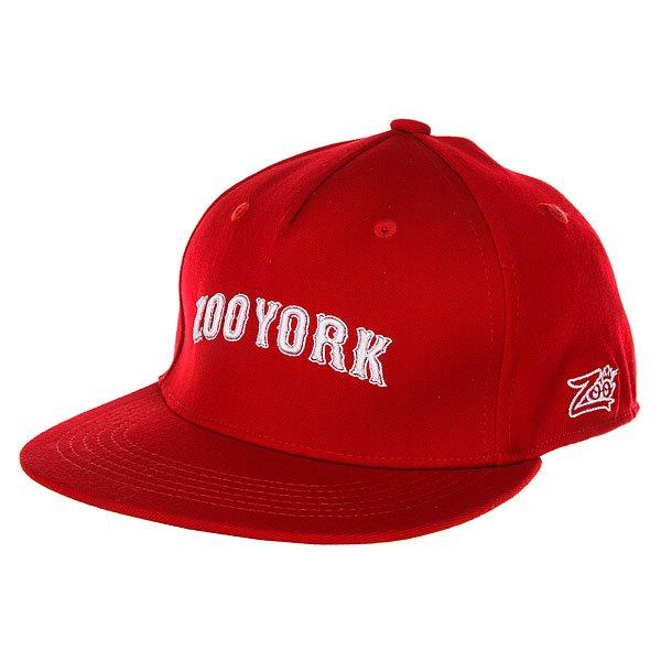 Бейсболка с прямым козырьком Zoo York Academy Flex Fit Red<br><br>Цвет: красный<br>Тип: Бейсболка с прямым козырьком<br>Возраст: Взрослый<br>Пол: Мужской