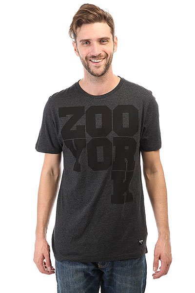 Футболка Zoo York Drop K Tee Med Dark Gr Htr