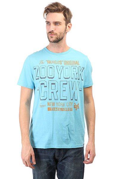 Футболка Zoo York Zys11-90349 Blue Jay<br><br>Цвет: голубой<br>Тип: Футболка<br>Возраст: Взрослый<br>Пол: Мужской