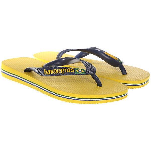 Вьетнамки Havaianas Brasil Logo Yellow