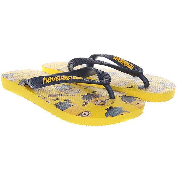 Вьетнамки Havaianas Minions Real Yellow<br><br>Цвет: желтый,мультиколор<br>Тип: Вьетнамки<br>Возраст: Взрослый<br>Пол: Мужской