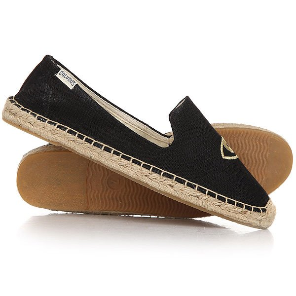 Эспадрильи женские Soludos Jason Polan For Soludos Collaboration Wink Black/Gold