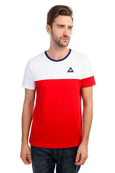 Футболка Le Coq Sportif Merrela Optical White/Pur Rouge<br><br>Цвет: белый,красный<br>Тип: Футболка<br>Возраст: Взрослый<br>Пол: Мужской