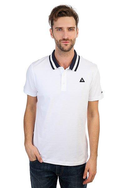 Поло Le Coq Sportif Arthur Ashe N°1 Optical White<br><br>Цвет: белый<br>Тип: Поло<br>Возраст: Взрослый<br>Пол: Мужской