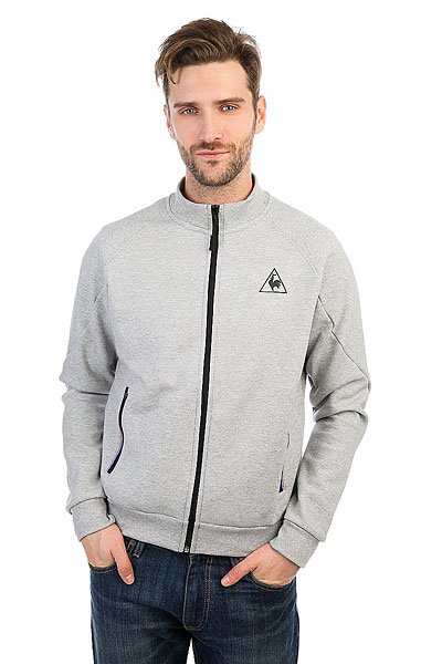 Толстовка классическая Le Coq Sportif Lcs Tech Fz Sweat Light Heather Grey le coq sportif толстовка классическая le coq sportif ailier fz hood brushed light heather grey