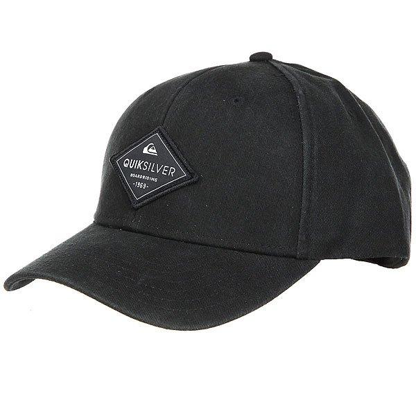 Бейсболка классическая Quiksilver Balasting Black<br><br>Цвет: черный<br>Тип: Бейсболка классическая<br>Возраст: Взрослый