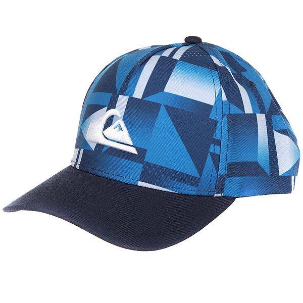 Бейсболка классическая детская Quiksilver Fixtail Youth Navy Blazer<br><br>Цвет: синий,белый<br>Тип: Бейсболка классическая<br>Возраст: Детский