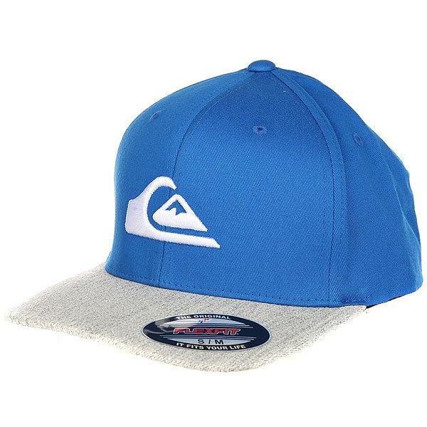 Бейсболка с прямым козырьком Quiksilver Mountain And Wave Imperial Blue<br><br>Цвет: синий,серый<br>Тип: Бейсболка с прямым козырьком<br>Возраст: Взрослый