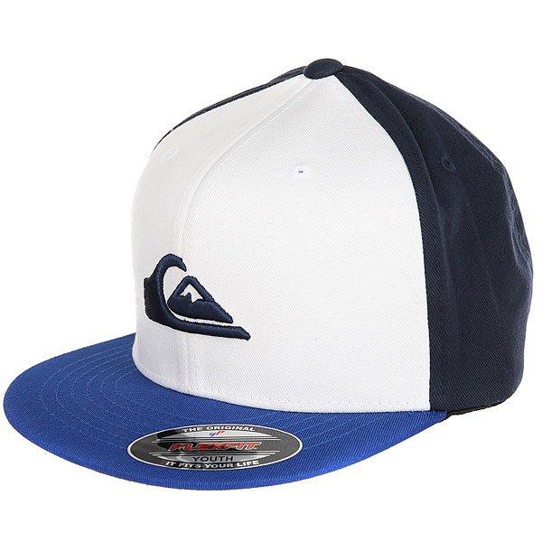 Бейсболка с прямым козырьком детская Quiksilver Stuckles Vallarta Blue<br><br>Цвет: синий,белый<br>Тип: Бейсболка с прямым козырьком<br>Возраст: Детский