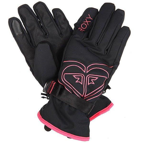 Купить со скидкой Перчатки сноубордические женские Roxy Popi Gloves True Black