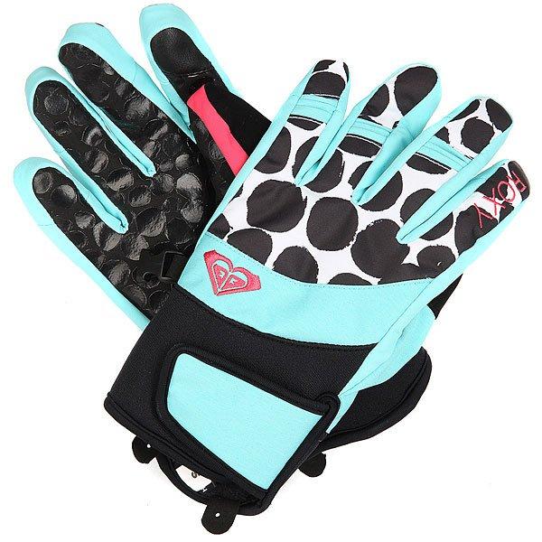 Перчатки сноубордические женские Roxy High Fiv Gloves Irregular Dots TrueСноубордические перчатки High Five с утеплителем.Технические характеристики: Утеплитель 70 г.Мягкая трикотажная подкладка с начесом.Регулируемое запястье.Панель для протирки маски и вытирания носа на большом пальце.Силиконовый принт на ладони.Неопреновое запястье.Эластичный лиш.<br><br>Цвет: голубой,белый,черный<br>Тип: Перчатки сноубордические<br>Возраст: Взрослый<br>Пол: Женский