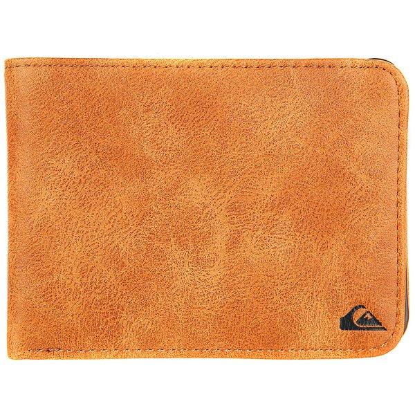Кошелек Quiksilver Slimvintageii Wllt Cpy0 Tan Leather<br><br>Цвет: коричневый<br>Тип: Кошелек<br>Возраст: Взрослый<br>Пол: Мужской