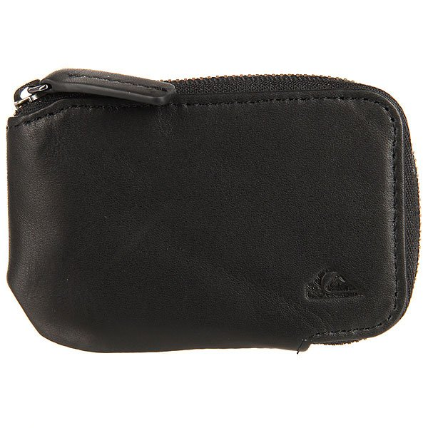 Монетница Quiksilver Half Zip Wallet Black