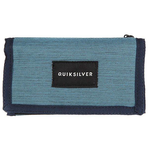 Кошелек Quiksilver Barter Vallarta Blue<br><br>Цвет: синий<br>Тип: Кошелек<br>Возраст: Взрослый